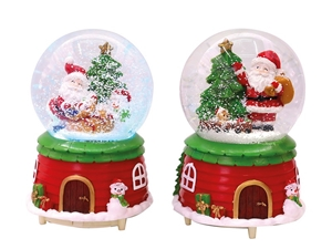 ΠΡΕΣΠΑΠΙΕ TOTAL XMAS BN0736 SNOW GLOBE XMAS LED 10χ14,5cm
